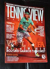 RAFAEL NADAL Signed Tennis view Magazine may/june 2013 - NO LABEL- coa