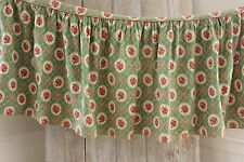 Vintage Christmas fabric material red + green 1950's floral Marignan