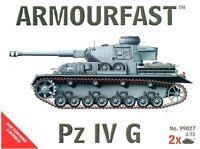 ARMOURFAST 99027 WWII German Panzer Pz IV G Tanks 2 Model Kit AIRFIX FREE SHIP