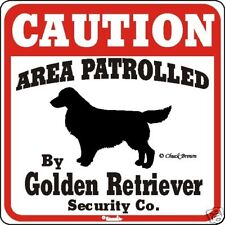 Golden Retriever Caution Dog Sign