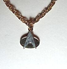 "Star Trek:NG Communicator 1/2"" Gold Tone Necklace w/Chain-FREE S&H(STJW-0045)"