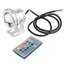 Stainless steel Underwater LED Spot Light Remote Control Gradual Change Lamp