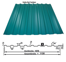 Trapezblech, Profilblech, Dachplatten, Wellblech T-18 0,5mm   Viele RAL Farben  