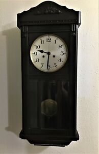Antique Frederick Mauthe & Sons WALL CLOCK  30 1/2 inch Tall by 13 Wide
