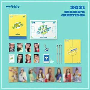 WEEEKLY 2021 SEASON'S GREETINGS Calendar+Diary+Postcard+Photo Card+Pencil+K.Ring