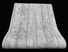 "6912-10) Vliestapete ""Fashion Wood"" Tapete edles Holz-Dekor Vintage-Look grau"