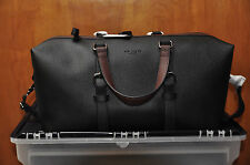 Brand New Authentic Ted Baker Color Block Holdall Duffle - Black with Brown trim