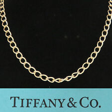NYJEWEL Tiffany & Co 14K Yellow Gold 7.5mm Wide Long Chain Necklace 24""
