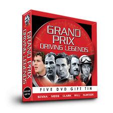 F1 GRAND PRIX DRIVING LEGENDS 5 DVD GIFT SET TIN SENNA MOSS CLARK HILL SURTEES