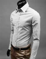 Men's Luxury Long Sleeve Shirt Casual Formal Slim Fit Business Dress Shirts TOP