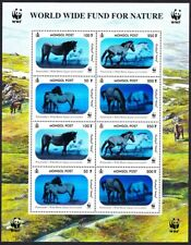 Mongolia WWF Przewalski's Horse Hologram stamps Sheetlet of 2 sets MNH
