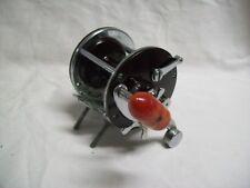 Vintage Penn Peer No. 209 Saltwater Fishing Reel with Red Crank Handle