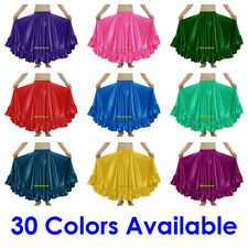 Satin Ruffle Skirt Belly Dance Jupe Tiered Oriental 12 Yd Gypsy Flamenco Frill