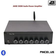 A600 350W Audio Power Amplifier Bluetooth 4.2 Amp 5.1 Channel DC12-25V pc66
