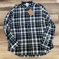 The North Face Women Berkeley Girlfriend Shirt Long Sleeve Plaid Size XL NWT $65