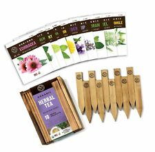 Herb Garden Seeds for Planting - 10 Medicinal Herbs Seed Packets Usda Organic.