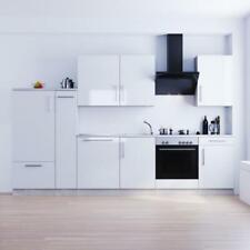 Tronitechnik Küchenzeile Luna 310cm weiß mit Elektrogeräte