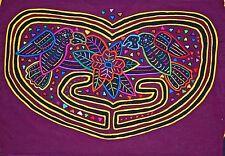 South American Reverse Appliqué Mola Textile Fabric Stitched Kuna Tribal Women