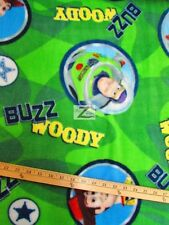 """TOY STORY BUZZ & WOODY CIRCLES BY SPRINGS CREATIVE FLEECE FABRIC 60"""" WIDTH FH17"""