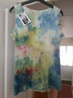 Pretty Ice Dyed Recycled Multi Coloured Vest Top, Size 12, NWT