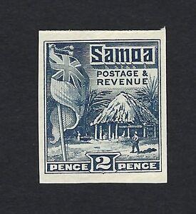 Samoa 1921 Flag & Samoan Hose 2d colour trial in indigo