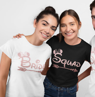Hen Party Tops Hen Do Bride Squad Mouse T-shirts Bridal Party Rose Gold BRDMI