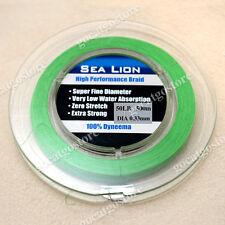 NEW Sea Lion 100% Dyneema  Spectra Braid Fishing Line 500M 50lb Green