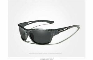 Kingseven Top Brand Polarized Sunglasses UV400 Mens Eyewear Glasses + Free Gift