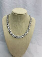 Beautiful Sterling Silver CZW 925  Collar Art Deco Style Designer necklace