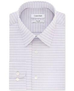Calvin Klein Men's Regular-Fit Multi-Check Dress Shirt, Purple, Size 2XL, NwT