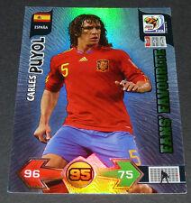 CARLES PUYOL ESPAÑA PANINI FOOTBALL FIFA WORLD CUP 2010 CARD ADRENALYN XL