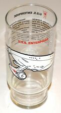 Star Trek TOS U.S.S. Enterprise Dr. Pepper Glass 1976 Paramount Pictures Vintage