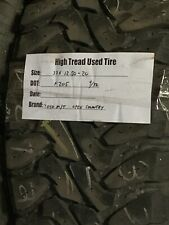 (1) 33X12.50-20 Toyo Open Country M/T Used High Tread Tire 9/32Nds
