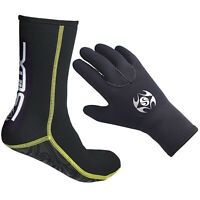 Adult 3mm Neoprene Swimming Diving Gloves Socks Surfing Spearfishing Snorkeling