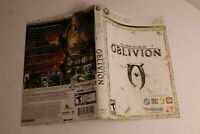Oblivion Xbox 360 replacement cover art insert only! original