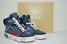 Michael Kor Women's Trent Embroidered Denim High-Top Sneaker Size 7