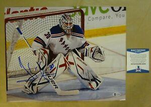 Signed HENRIK LUNDQVIST Autographed New York Rangers Photo 11X14 BECKETT COA