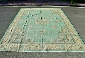 Anatolian Nomadic Handmade Wool Carpet Turkish Vintage Unique Area Rug 9x12 ft.