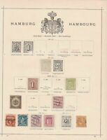 hamburg early stamps collection on page huge cat value ref r8983