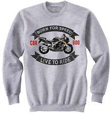 HONDA-CBR900RR-FIREBLADE-1996 - NEW COTTON GREY SWEATSHIRT ALL SIZES IN STOCK