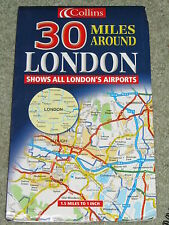 "Collins Road Map: 30 miles around London - 1.5 miles to 1"" - 2000 edition"