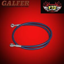 "GSXR 750 Galfer Blue 36"" Extended Rear Brake Line for Swingarm Extensions"