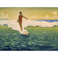 TRAVEL TOURISM SPORT SURF HAWAII WAVE SEA USA NEW FINE ART PRINT POSTER PICTURE