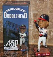 David Justice SGA Bobblehead  6/9/15 Atlanta Braves bobble head + Autograph card