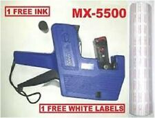 MX-5500 8Digits BLUE Price Tag Gun+ 5000 White with Red lines  labels+1 Ink