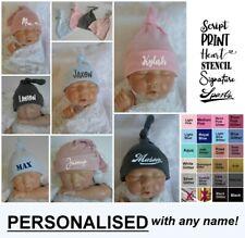 Baby Beanie Hat Personalised Cap Newborn - 12 month baby shower gift custom name