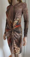 TED BAKER ~Feather Print~ Dress UK 12 3 Party WEDDING Cruise Flattering Bodycon