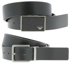 Emporio Armani 2x Buckle Reversible Black Belt Gift Set Box Y4S225 Made in Italy