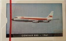 TWA Convair 880 1961 Aircraft Poker Playing Cards Unused Box Vintage New