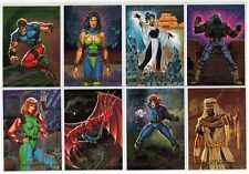1993 MARVEL MASTERPIECES X-MEN 2099 DYNA ETCH FOIL SPECTRA 8 CARD INSERT SET